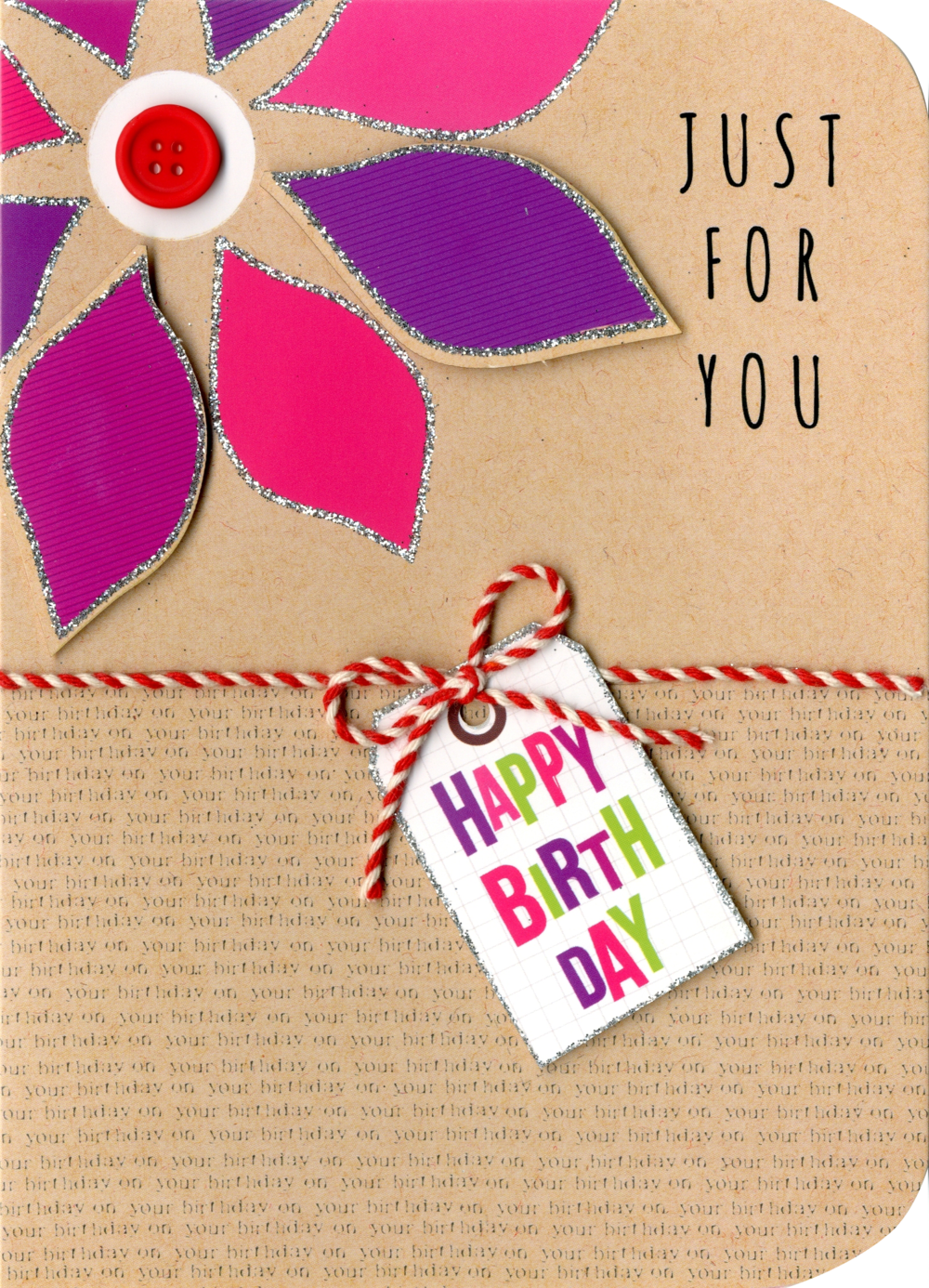 Just For You Birthday Embellished Greeting Card
