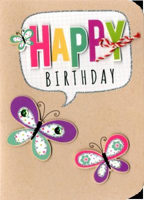 Happy Birthday Embellished Greeting Card