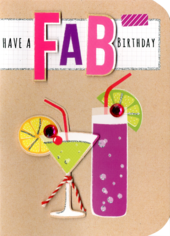 Have A Fab Birthday Embellished Greeting Card