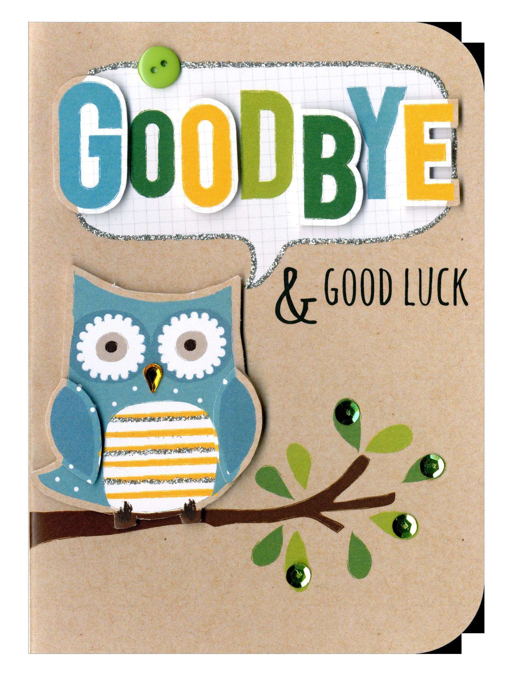 Goodbye goodluck embellished greeting card cards love kates goodbye goodluck embellished greeting card kristyandbryce Gallery