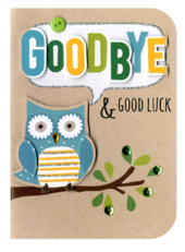 Goodbye & Goodluck Embellished Greeting Card
