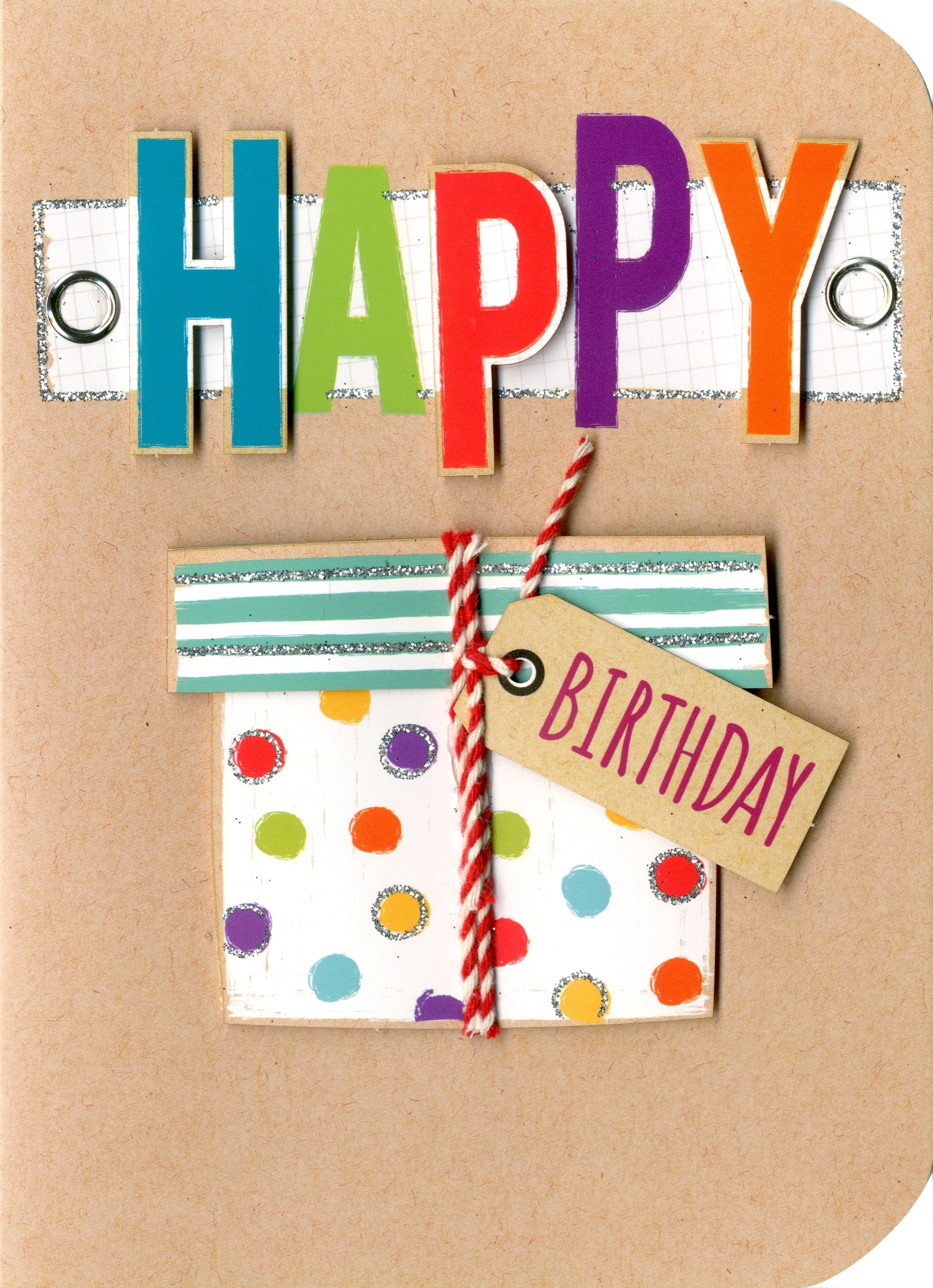Happy birthday embellished greeting card cards love kates happy birthday embellished greeting card kristyandbryce Image collections