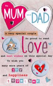 Mum & Dad Anniversary Greeting Card
