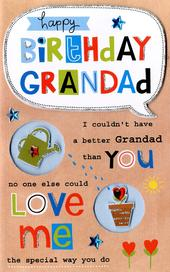 Grandad Happy Birthday Greeting Card