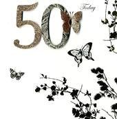 50 Today 50th Birthday Embellished Greeting Card