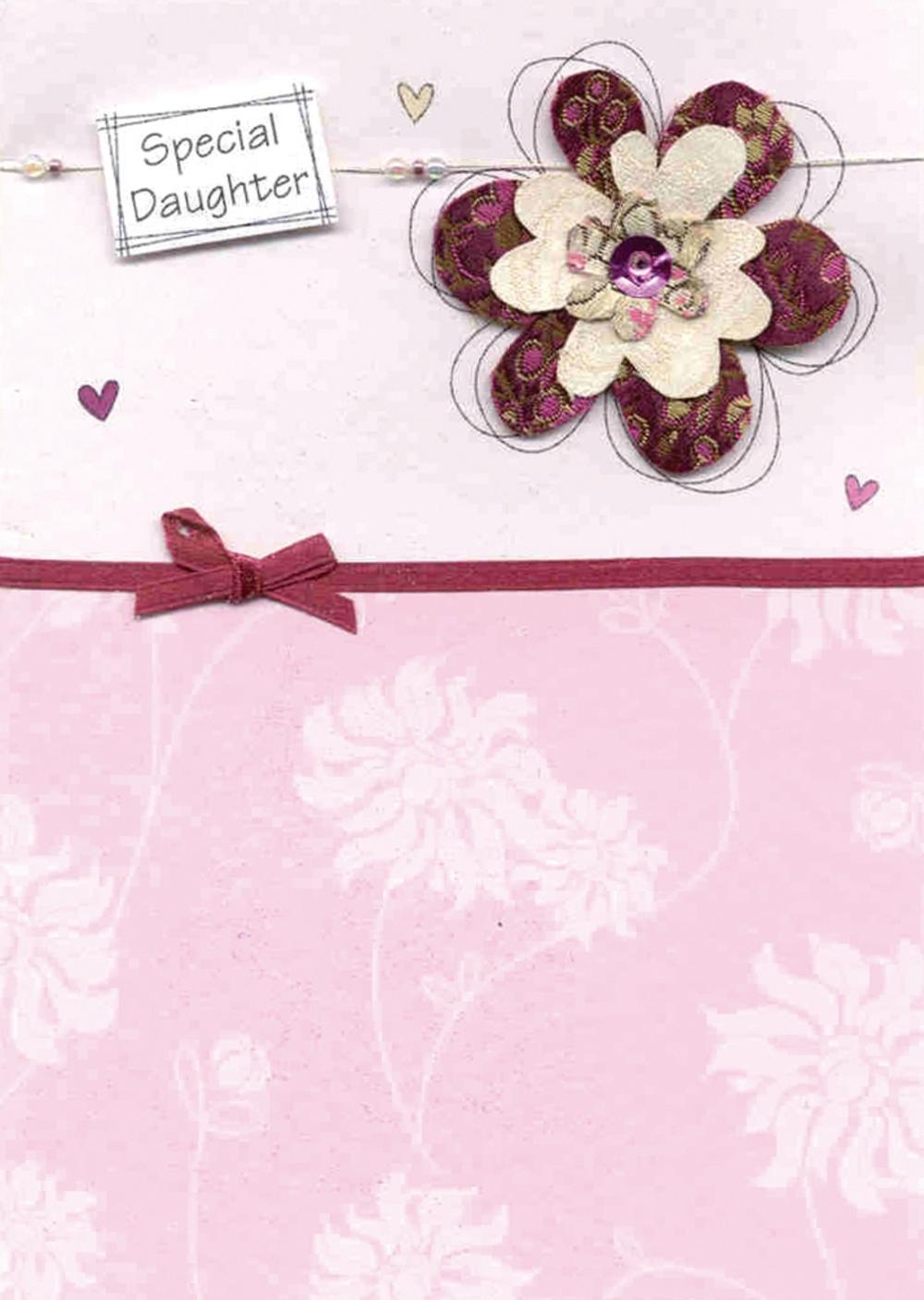 Daughter Embellished Birthday Greeting Card