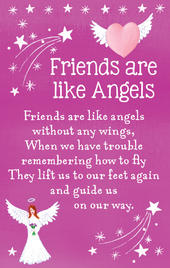 Friends Are Like Angels Heartwarmers Keepsake Credit Card & Envelope