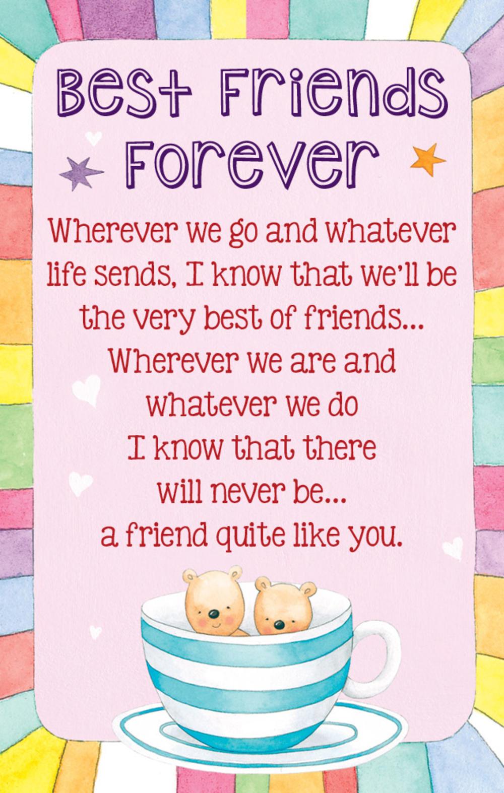 Best Friends Forever Heartwarmers Keepsake Credit Card & Envelope