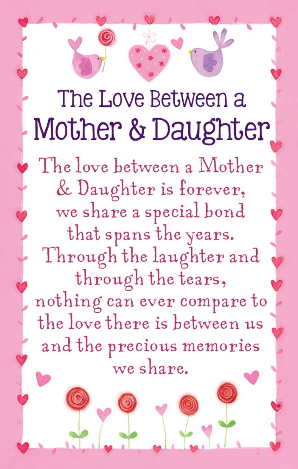 Mother & Daughter Love Heartwarmers Keepsake Credit Card & Envelope