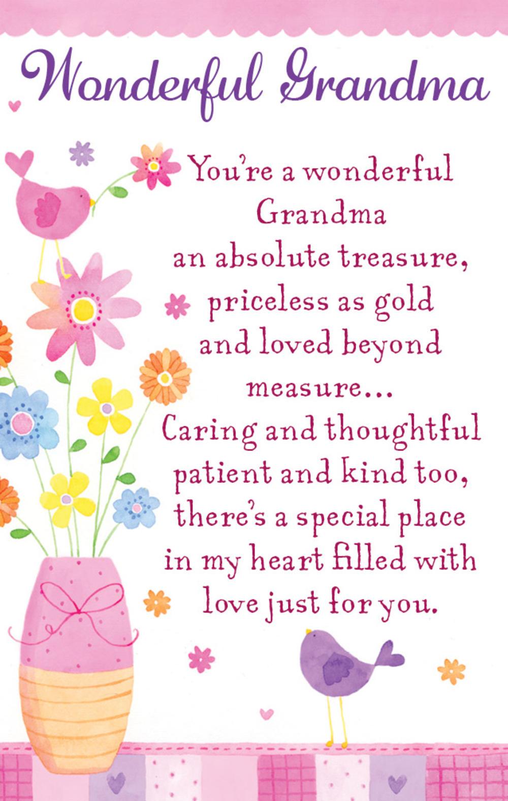 Wonderful Grandma Heartwarmers Keepsake Credit Card & Envelope