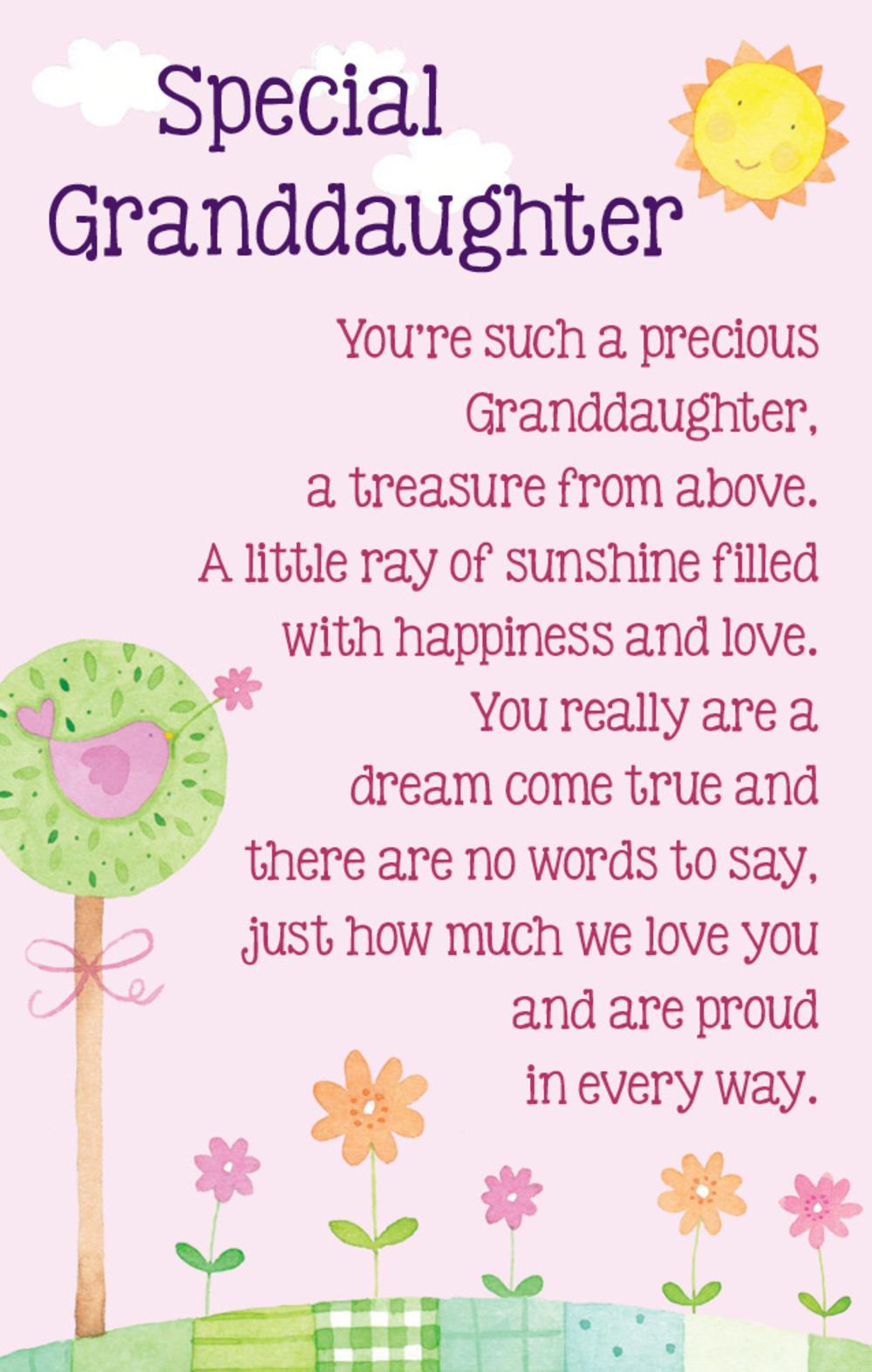 Special Granddaughter Heartwarmers Keepsake Credit Card & Envelope ...