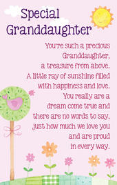 Special Granddaughter Heartwarmers Keepsake Credit Card & Envelope