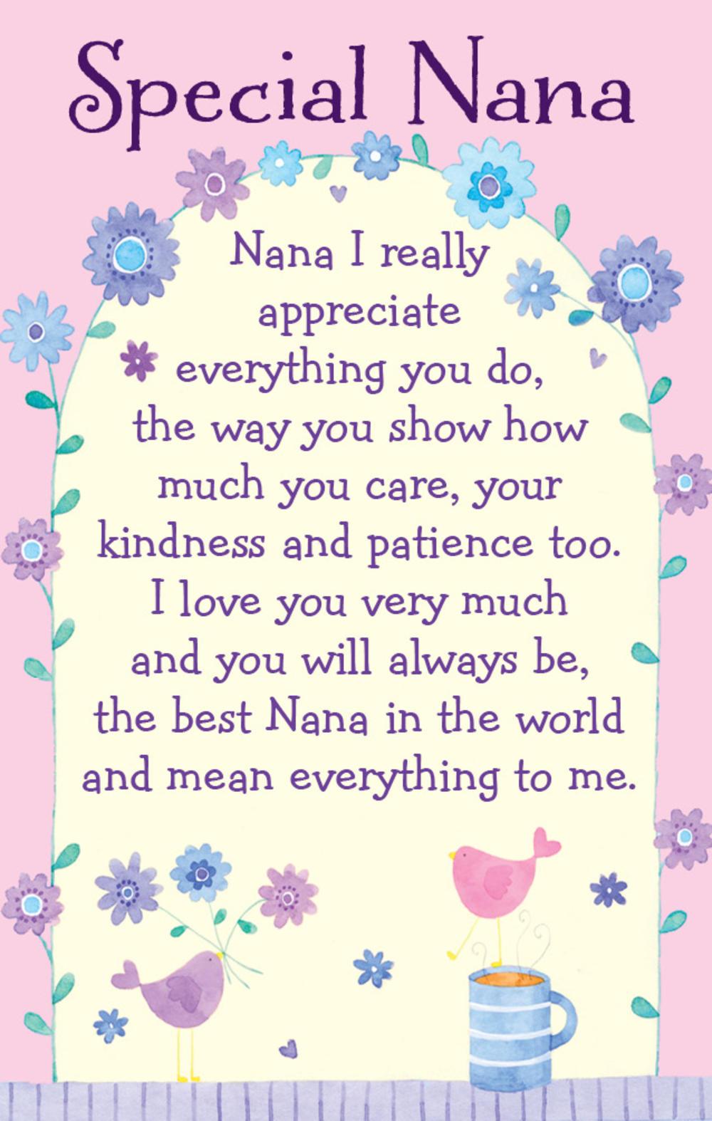 Special Nana Heartwarmers Keepsake Credit Card & Envelope