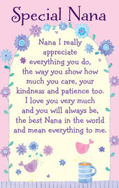 Special Nana Heartwarmers Keepsake Credit Card & Envelope