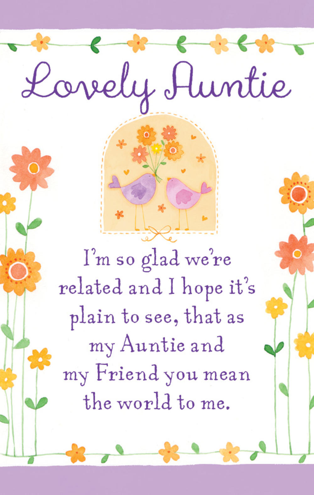 Lovely Auntie Heartwarmers Keepsake Credit Card & Envelope
