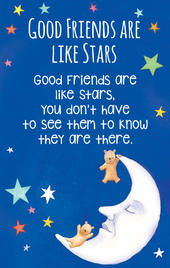 Friends Are Like Stars Heartwarmers Keepsake Credit Card & Envelope
