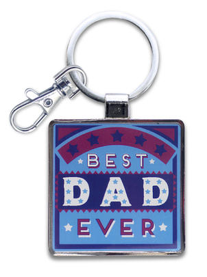 Best Dad Little Wishes Metallic Keyring