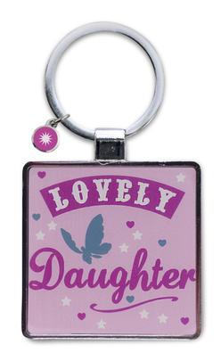 Lovely Daughter Little Wishes Metallic Keyring