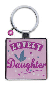 Lovely Daughter Little Wishes Metallic Keyring