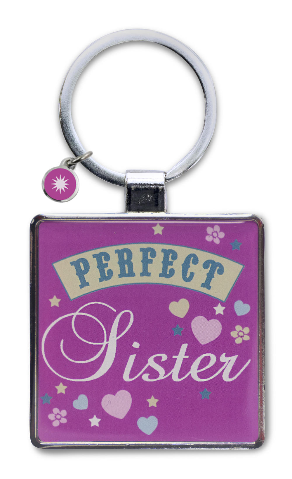 Perfect Sister Little Wishes Metallic Keyring