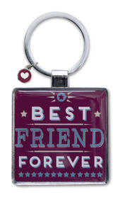 Best Friend Little Wishes Metallic Keyring