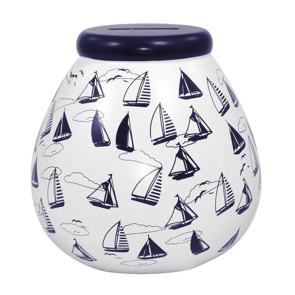 Nautical Pots of Dreams Money Pot
