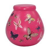 Pink Butterfly Pots of Dreams Money Pot