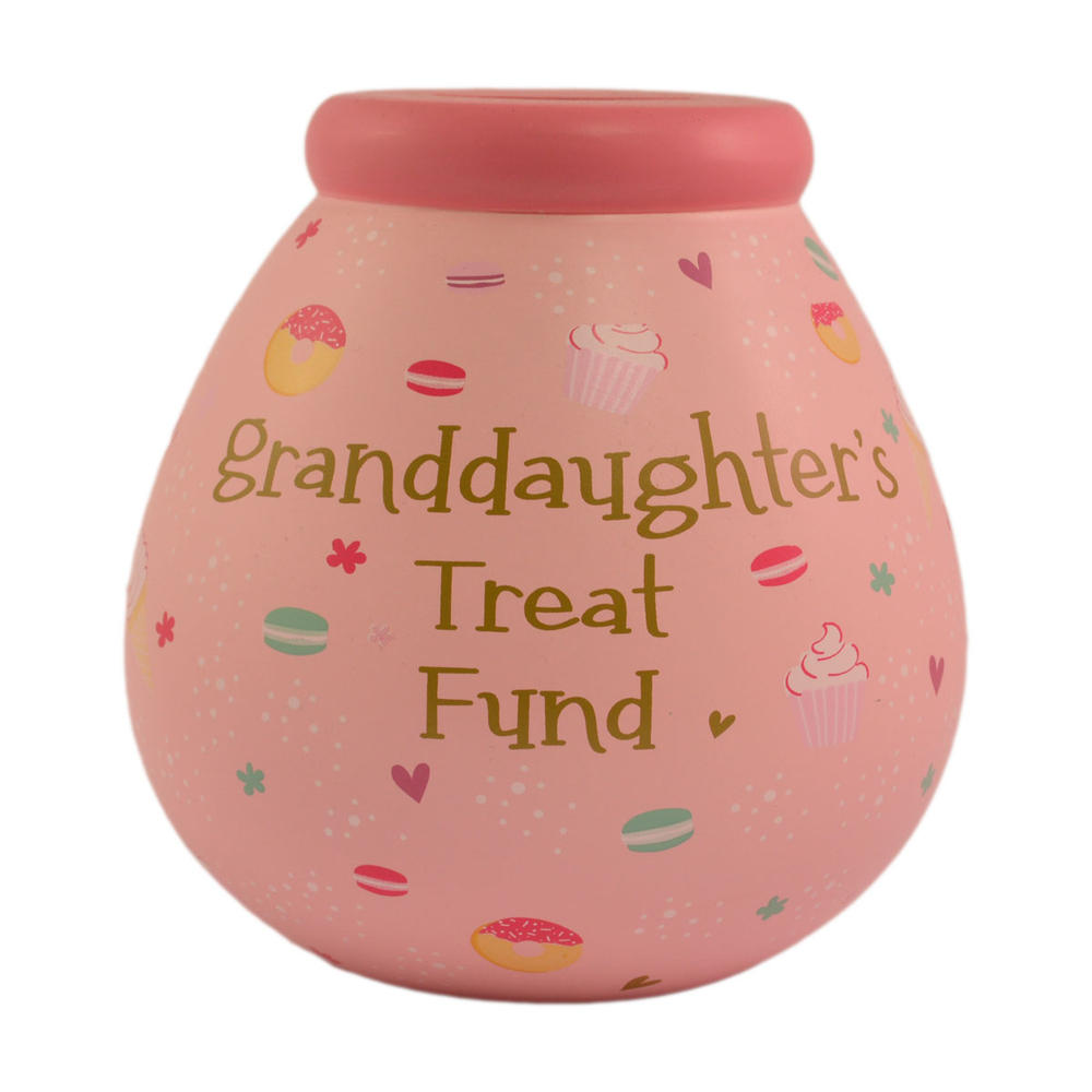 Granddaughter's Treat Fund Pots of Dreams Money Pot