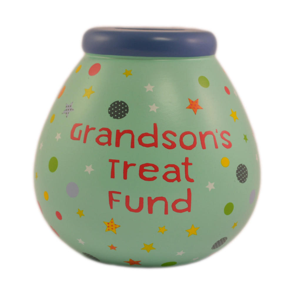 Grandson's Treat Fund Pots of Dreams Money Pot