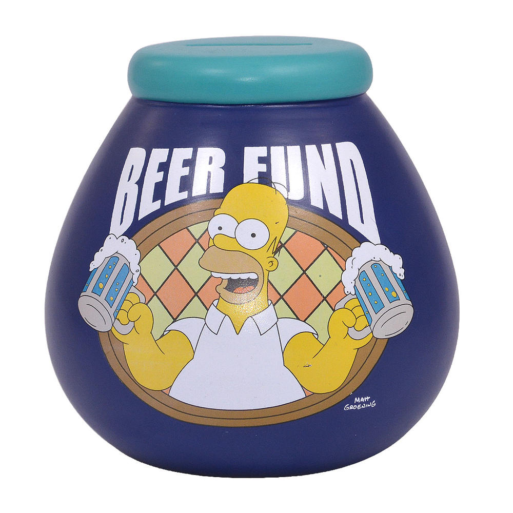 Simpsons Beer Fund Pots of Dreams Money Pot