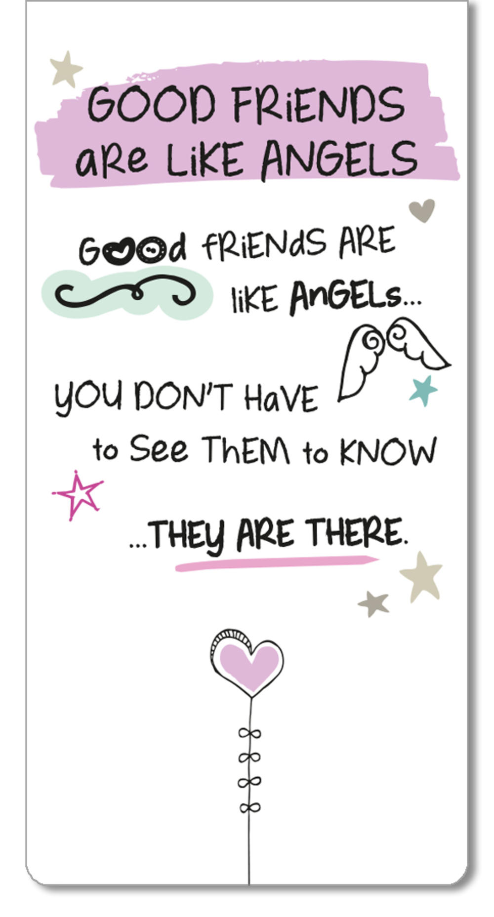 Good Friends Inspired Words Magnetic Bookmark