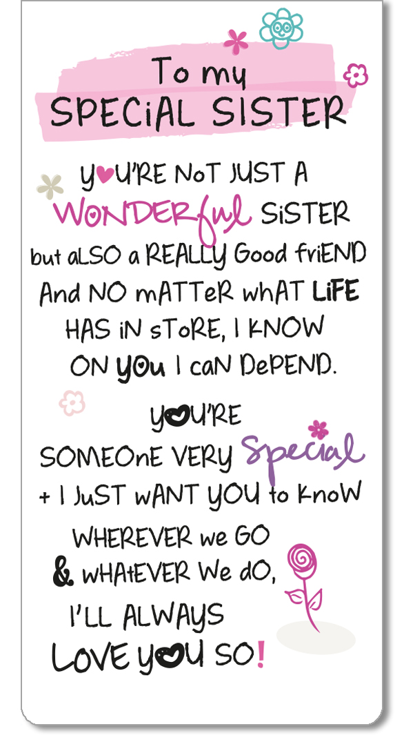 Special Sister Inspired Words Magnetic Bookmark Gifts