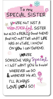 Special Sister Inspired Words Magnetic Bookmark