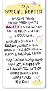 To A Special Reader Inspired Words Magnetic Bookmark