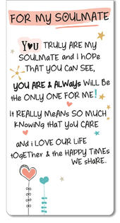 For My Soulmate Inspired Words Magnetic Bookmark