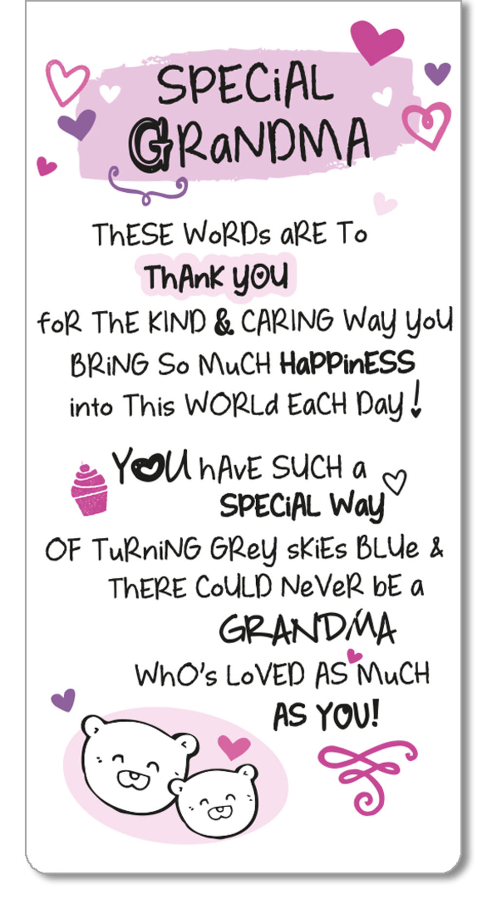 Special Grandma Inspired Words Magnetic Bookmark