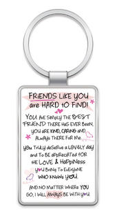 Friends Like You Inspired Words Metal Keyring