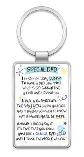 Special Dad Inspired Words Metal Keyring