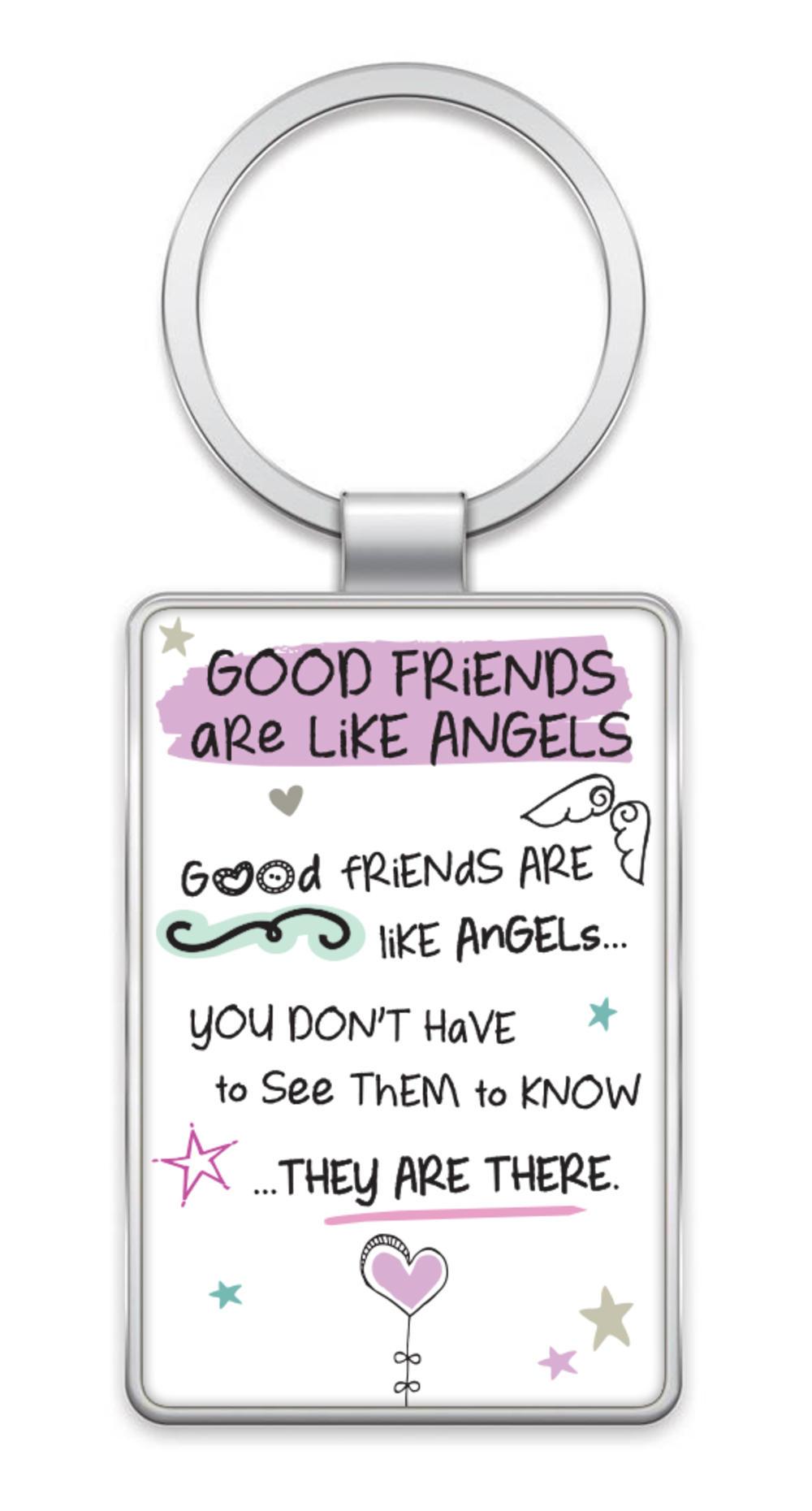 Good Friends Inspired Words Metal Keyring