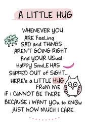 A Little Hug Inspired Words Keepsake Credit Card & Envelope