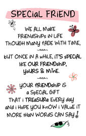 Special Friend Inspired Words Keepsake Credit Card & Envelope