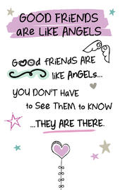 Good Friends Like Angels Inspired Words Keepsake Credit Card & Envelope
