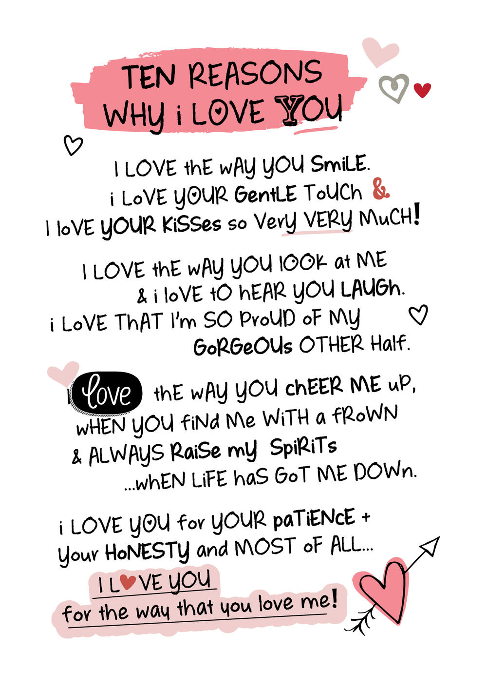 Ten reasons why i love you inspired words greeting card blank inside ten reasons why i love you inspired words greeting card blank inside thumbnail 1 kristyandbryce Image collections