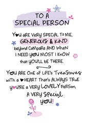 To A Special Person Inspired Words Greeting Card Blank Inside