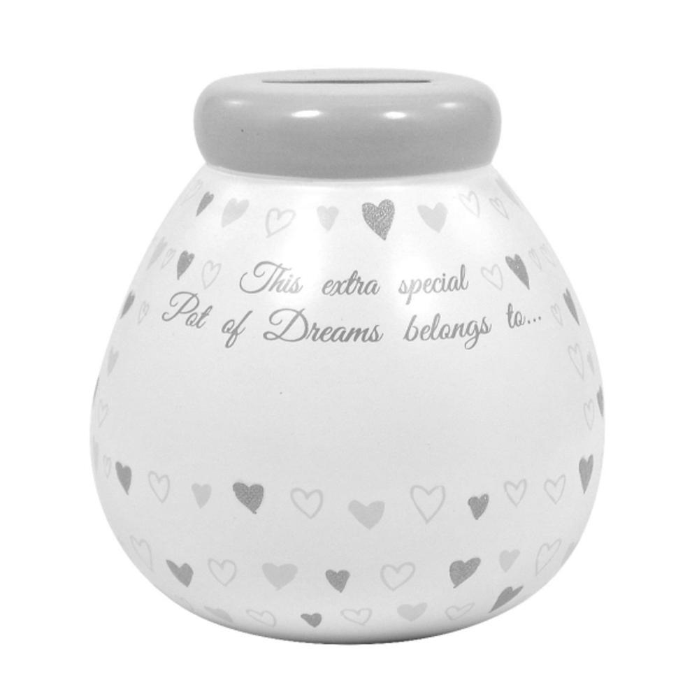 Personalised Wedding Pot of Dreams With Silver Letters