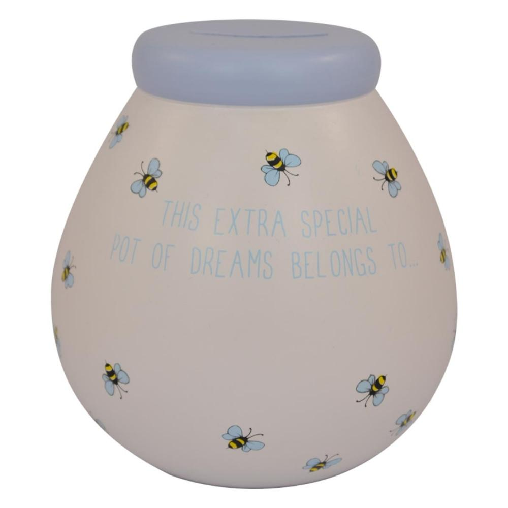 Personalised Bees Pot of Dreams With Gold Letters