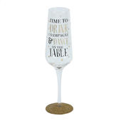 Signography Dance On The Table Sparkling Flute Glass In Gift Box