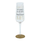 Signography Birthday Girl Sparkling Flute Glass In Gift Box