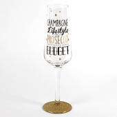 Signography Champagne Lifestyle Prosecco Budget Sparkling Flute Glass In Gift Box