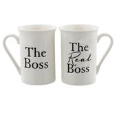 The Boss & The Real Boss Amore Mug Set In A Gift Box